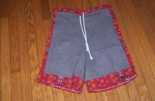 Cotton Duck Shorts w/ Guatemalan Accents