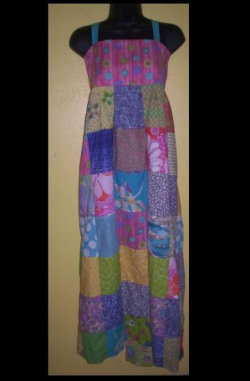 Spring Flowers Patchwork Dress