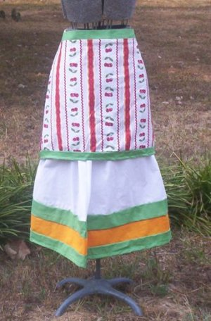 Fresh Cherries Apron Skirt Set