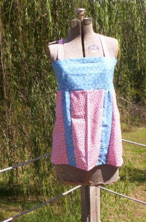 Country Flowers Apron Top
