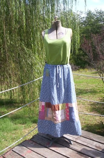 Earth Mama Random Patchwork Skirt
