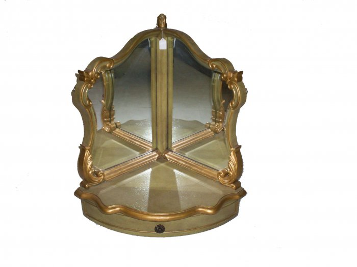 Victorian Vanity Mirror with Drawer