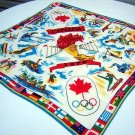 1976 Summer Olympics souvenir scarf Montreal Canada 1034vf