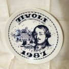Georg Carstensen commemorative plate Tivoli Gardens 1987 numbered 1044vf
