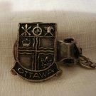 Ottawa Canada souvenir sweater guard silver tone vintage 1051vf