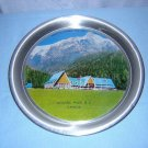Souvenir photographic tin tray Northlander Motor Lodge Rogers Pass BC Canada 1059vf