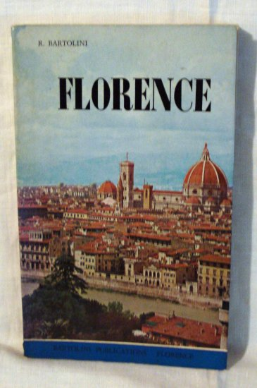 Florence, Italy 1970 guide book Roberto Bartolini signed with city map 1077vf