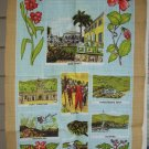 St. Thomas Virgin Islands souvenir tea towel Irish linen unused vintage  1080vf