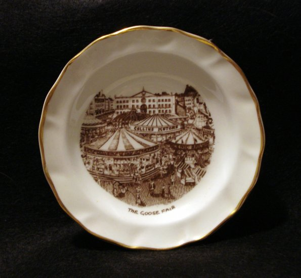 Nottingham Goose Fair tiny souvenir plate pin dish limited edition 1127vf