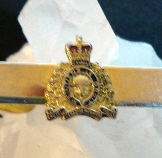 RCMP Royal Canadian Mounted Police tie clip vintage jewelry 1134vf