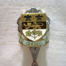 Quebec Canada souvenir spoon coat of arms perfect vintage  1139vf