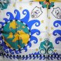 Crystal Cruises silk souvenir scarf world motif unused 1152vf