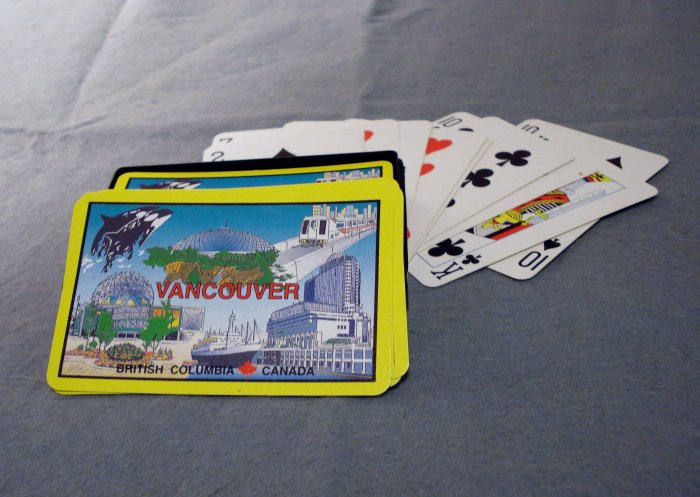 Vancouver British Columbia Canada playing cards souvenir 54 card deck boxed vintage  1192vf