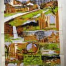 West Yorkshire souvenir cotton towel unused vintage linens 1212vf
