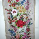 Wildflowers of Australia by Neil Souvenir linen towel unused 1214vf