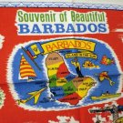 Vintage souvenir of Barbados cotton towel #2 red  1221vf