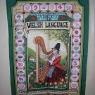 Welsh Language towel with harp Clive Mayor Vista made in UK 1229vf