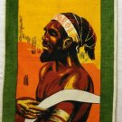 Aboriginal man souvenir linen towel unused 1245vf