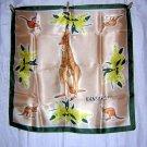 Australia souvenir scarf kangaroos and flora unused vintage 1247vf