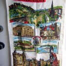 Scenes of Edinburgh linen souvenir towel Blackstaff excellent vintage 1258vf