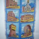 Fort Steele Historic Park souvenir linen towel BC, Canada 1271vf