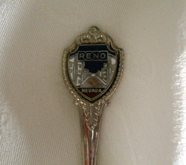 Reno Nevada souvenir spoon enamel crest 1273vf