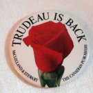 Trudeau is Back pin-back button McClelland Stewart collectible memorabilia 1287vf