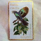 USPS enamel on brass state stamp pin Florida 20c  1982 vintage 1308vf