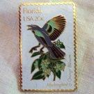 USPS enamel on brass state stamp pin Florida 20c  1982 vintage 1308vf