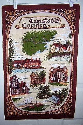 Constable country souvenir tea towel very British Clive Mayor vintage 1313vf