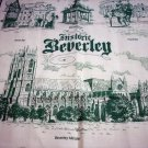 Historic Beverley souvenir towel unused vintage 1328vf