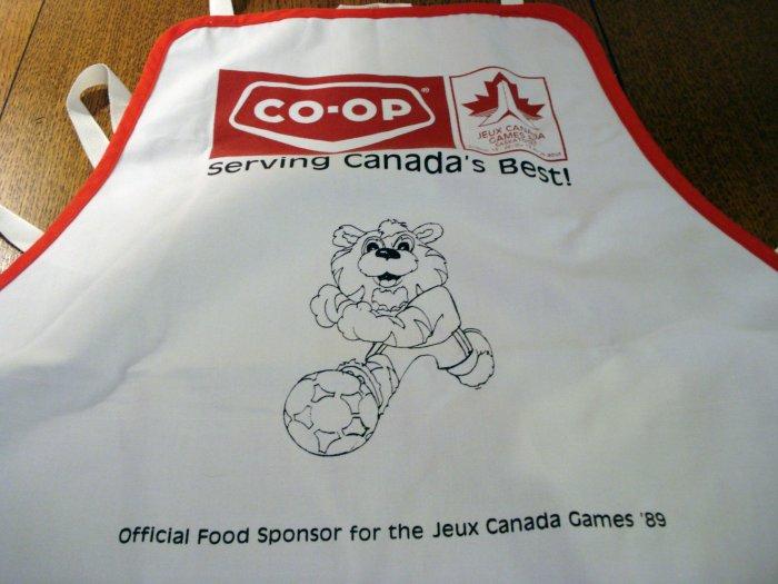 Promotional chef's apron 1989 Canada Games Co-op food sponsor vintage1351vf