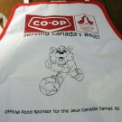 Promotional chef's apron 1989 Canada Games Co-op food sponsor vintage1351vf