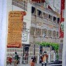 George Inn Southwark linen souvenir towel vintage Lamont Ireland  1354vf