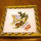 Zermatt Switzerland boxed embroidered linen souvenir hanky vintage1371vf