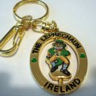 The Leprechaun Ireland spinner souvenir key ring purse clip gold plated unused unisex 1377vf