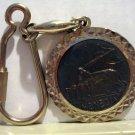 Venizia Venice souvenir key ring silver tone bronze lion unisex vintage1395vf