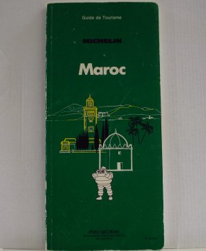 Michelin Maroc Morocco 1978 green guide book en Francaise 3rd edition used PB 1404vf