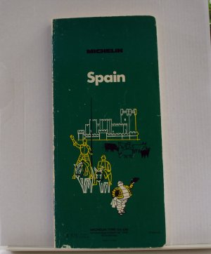 Michelin Spain green guide book first edition 1974 used PB 1408vf