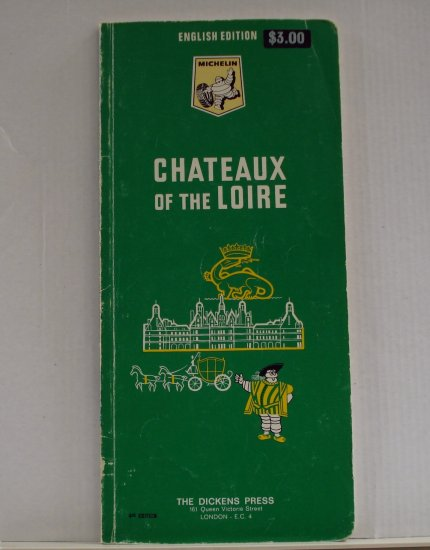 Michelin Provence green guide book Chateaux of the Loire 1967 used PB 1411vf