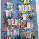 The People&#39;s Friend 1989 calendar towel linen advertising promo floral unused vintage 1414vf