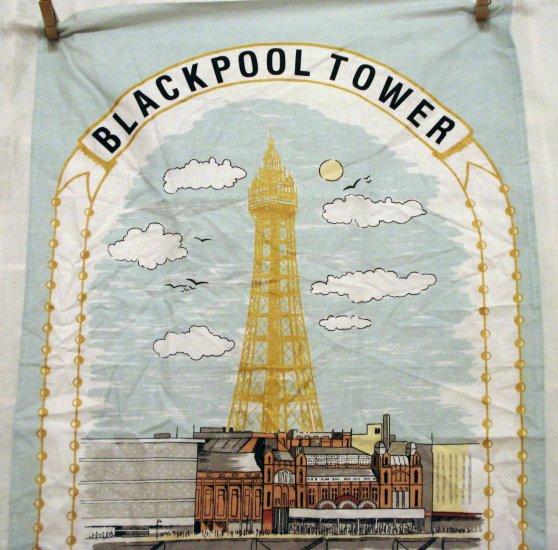 Blackpool Towel souvenir towel cotton 1994 centenary unused vintage 1415vf