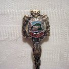 Tintern Abbey Wales souvenir spoon silverplate antique 1418vf