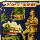 Robert Burns souvenir tea towel linen unused vintage 1458vf