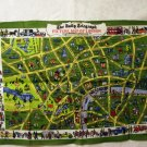 The Daily Mail Picture Map of London souvenir towel Irish linen unused vintage 1461vf