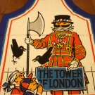 Tower of London chef style apron with Beefeater cotton vintage 1479vf
