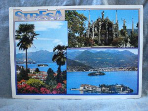 Stresa Lago Maggiore Italy souvenir postcard 3 scenes pre-owned unused 1521vf