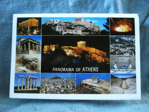 Panorama of Athens souvenir accordian postcard booklet 10 pcs pre-owned unused 1524vf