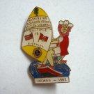 Lions Club pin 19 D Hawaii 1983 Washington N. Idaho British Columbia 1539vf
