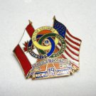 Lions Club collector pin multiple district 19 BC, WA, ID flags US, CA 1542vf